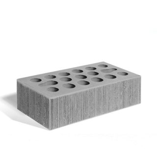 Керамический кирпич Керма серебро бархат 250x120x65