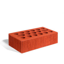 Керамический кирпич Керма красный бархат 250x120x65