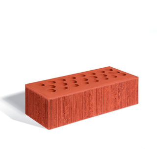 Керамический кирпич Керма бордовый бархат 250x85x65