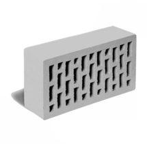 Кирпич лицевой серый гладкий ЛСР (RAUF Fassade) 250x120x65