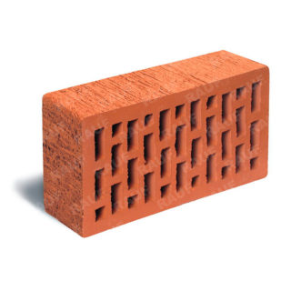 Кирпич лицевой красный гладкий ЛСР (RAUF Fassade) 250x120x65